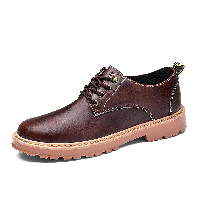 Simple Breathable Formal Casual Shoes For Men - DEEP BROWN 41