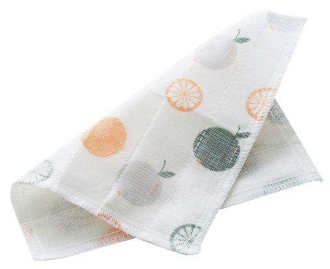 Can Hang Bamboo Fiber Printing Dishcloth - WHITE