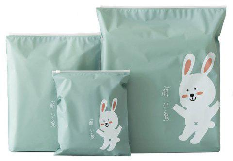 Cartoon Waterproof Zippered Pouch Pocket - GREEN