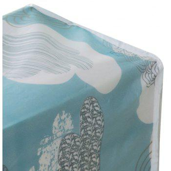 Moisture-Proof and Dust-Proof Printed Cotton Quilt Garment Receive Bag - BLUE SIZE S