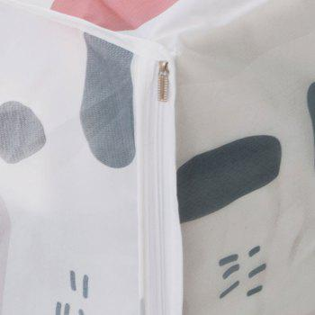 Moisture-Proof and Dust-Proof Printed Cotton Quilt Garment Receive Bag - WHITE SIZE L