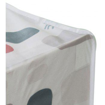 Moisture-Proof and Dust-Proof Printed Cotton Quilt Garment Receive Bag - WHITE SIZE S