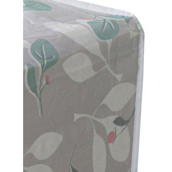 Moisture-Proof and Dust-Proof Printed Cotton Quilt Garment Receive Bag - GREEN SIZE L