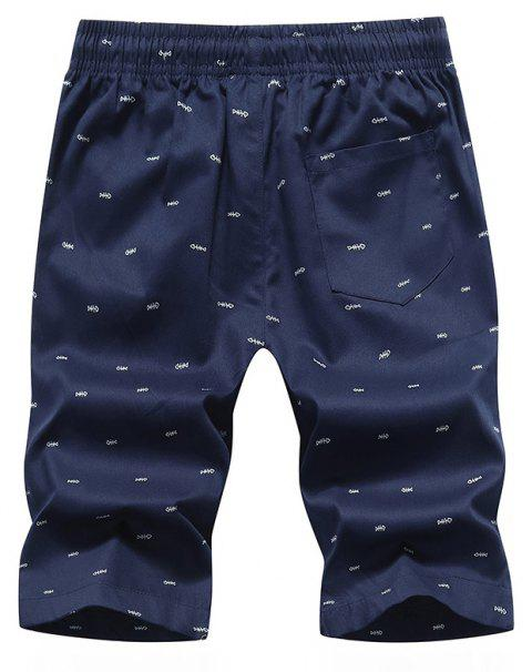 Men's Casual Shorts Summer Beach Pants - CERULEAN XL