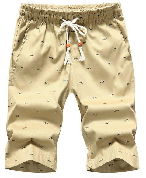 Men's Casual Shorts Summer Beach Pants - KHAKI 2XL