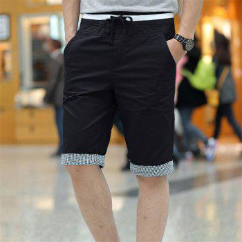Summer New Men's Cotton Casual Shorts - BLACK 2XL
