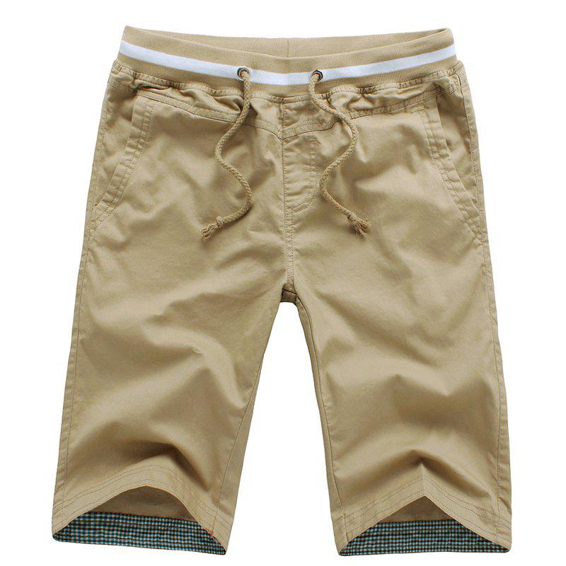Summer New Men's Cotton Casual Shorts - KHAKI XL