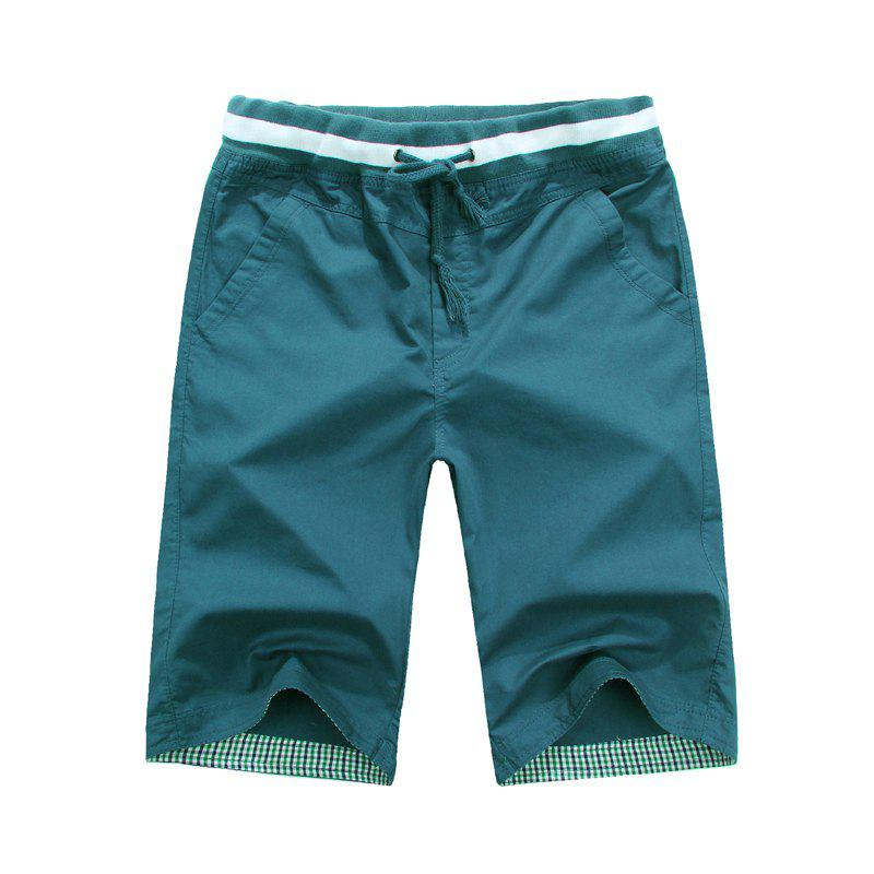 Summer New Men's Cotton Casual Shorts - DARK GREEN 3XL