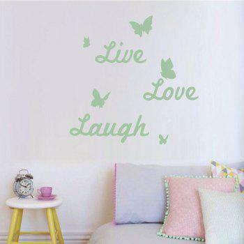 DSU Home Furnishing Decorative Live Love Laugh Luminous Wall Sticker Light-Emitting Wallpaper Children Room Ceiling Decor - NEON GREEN 45X36CM