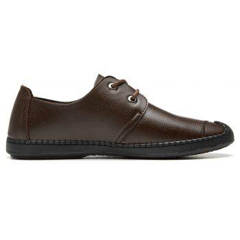 Men Casual Wear Outsole Leather Wedding Shoes - BROWN 39