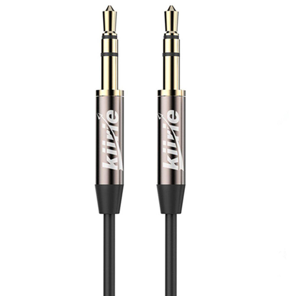 Kiirie Audio 3.5mm Stereo Premium Auxiliary Aux Headphones Cable for iPhone - BLACK