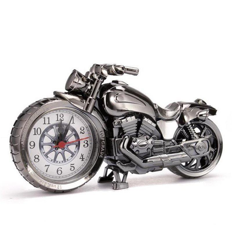 BALDR Creative Motorcycle Motorbike Pattern Alarm Clock Desk Creative Home - BLACK
