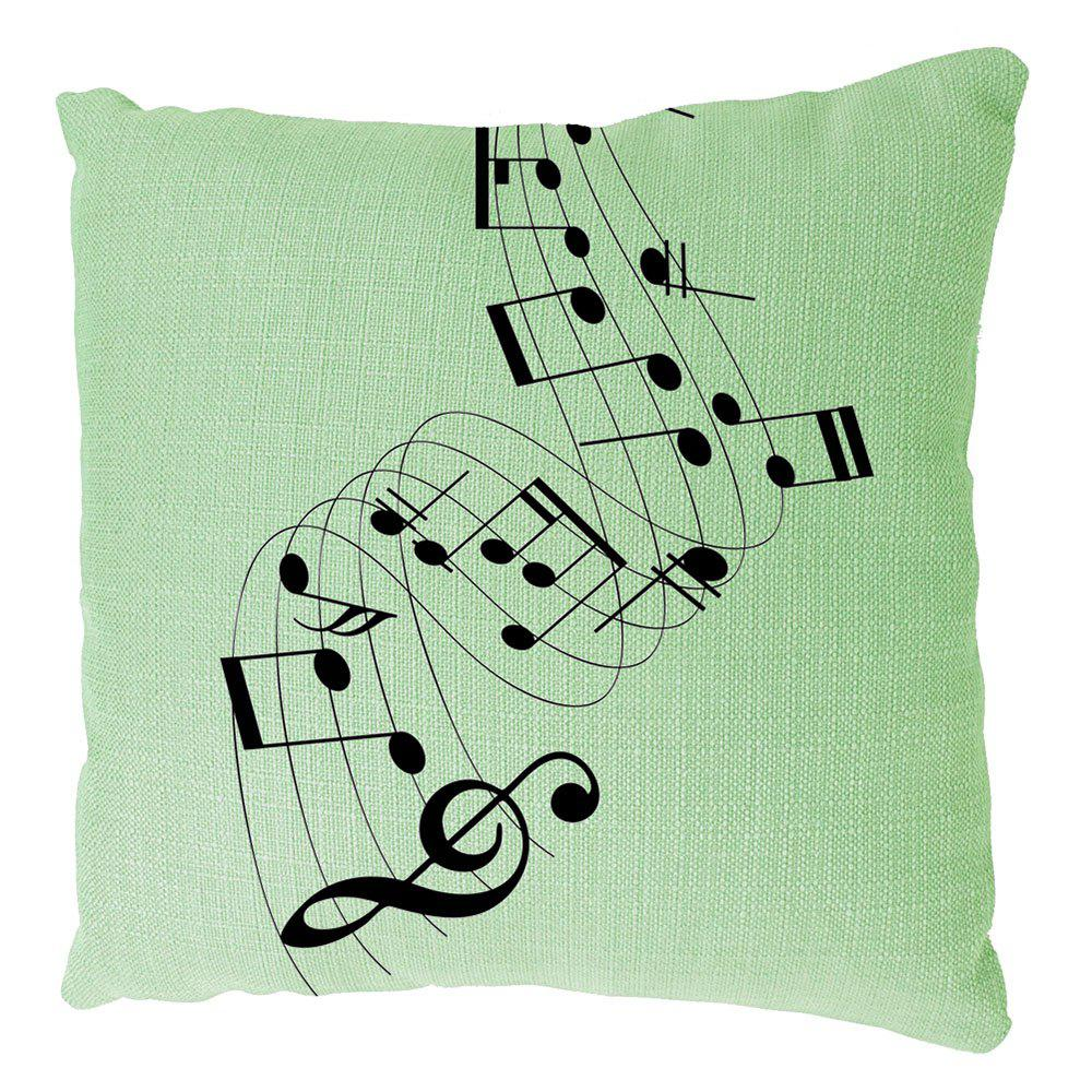 Musical Notes Cotton Linen Cushion Covers Household Decoration Home Furnishing Printing Pillowcase - COLORMIX 16INCH X16INCH
