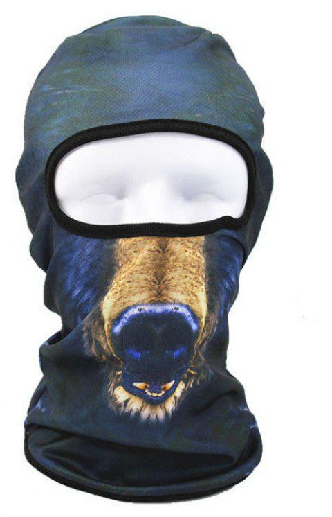 3D Animal Style Breathable Face Mask for Outdoor Sports Motorcycle Cycling Snowboard Hunting - COLOR BLUE