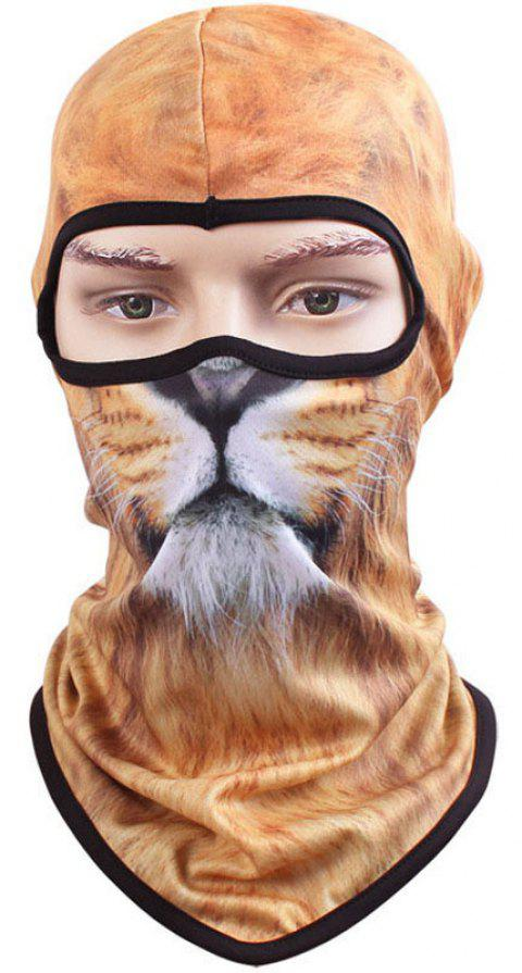 3D Animal Style Breathable Face Mask for Outdoor Sports Motorcycle Cycling Snowboard Hunting - YELLOW