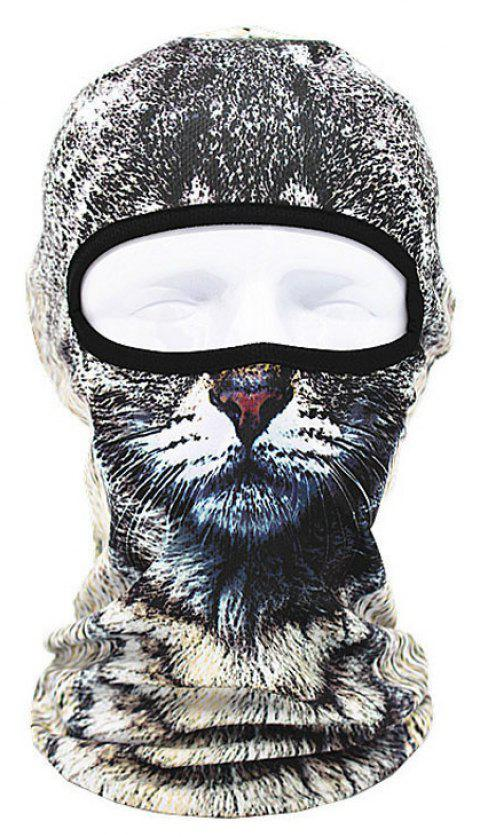 3D Animal Style Breathable Face Mask for Outdoor Sports Motorcycle Cycling Snowboard Hunting - GRAY