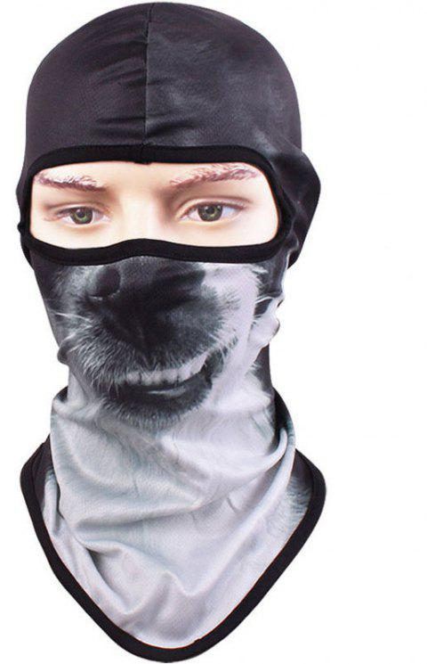 3D Animal Style Breathable Face Mask for Outdoor Sports Motorcycle Cycling Snowboard Hunting - BLACK
