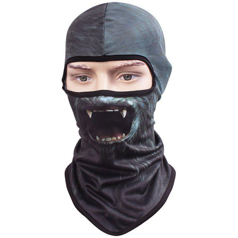 3D Animal Style Breathable Face Mask for Outdoor Sports Motorcycle Cycling Snowboard Hunting - DARK BLUE