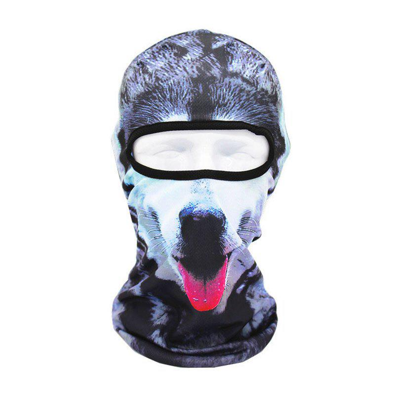 3D Animal Style Breathable Face Mask for Outdoor Sports Motorcycle Cycling Snowboard Hunting - COLORFUL FOREST PATTERN