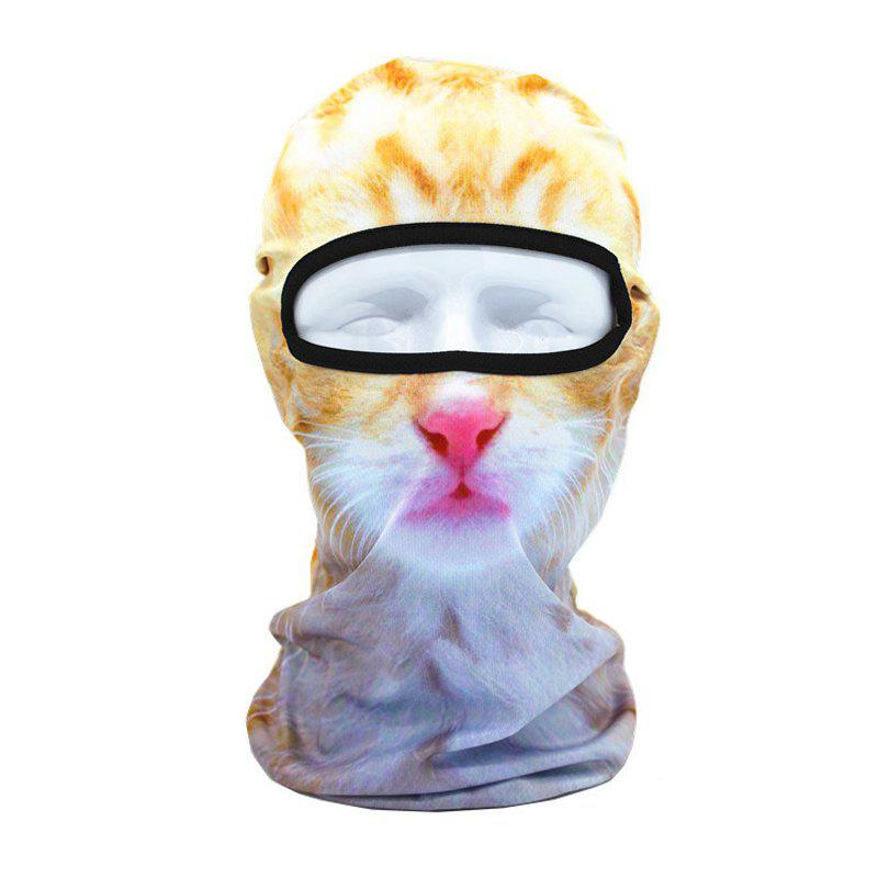 Masque respirant de style animal 3D pour les sports de plein air moto vélo Snowboard Hunting - Jaune marron