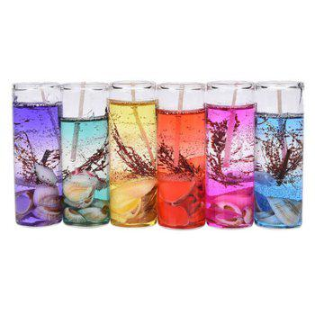 6PCS Smokeless Candles Ocean Shells Jelly Aromatherapy Candles Decoration Crossborder - COLOUR