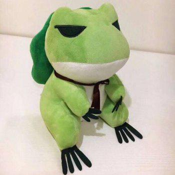 Cute Trave Action Figure Doll Frogs with Hat Stuffed Plush Toy Gift for Children Birthday - GREEN