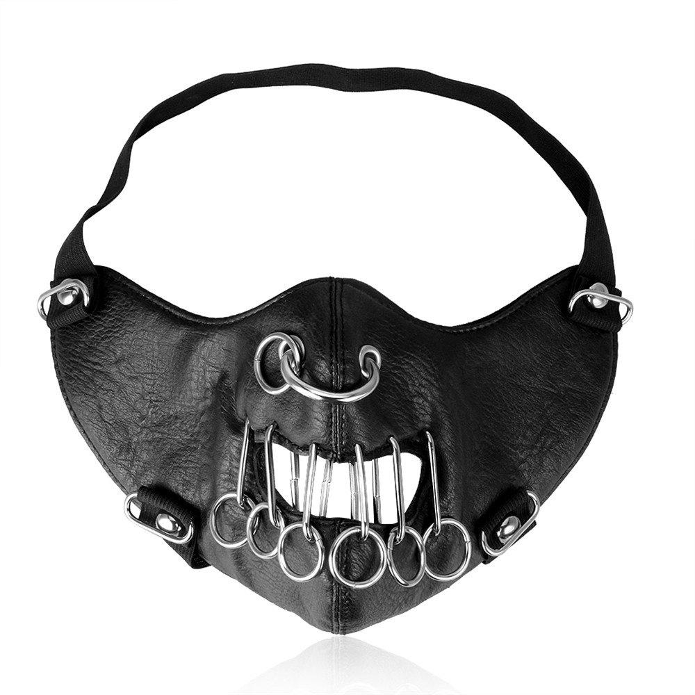 Punk Cortex Multi Ring Locomotive Outdoor Decoration Mask - BLACK