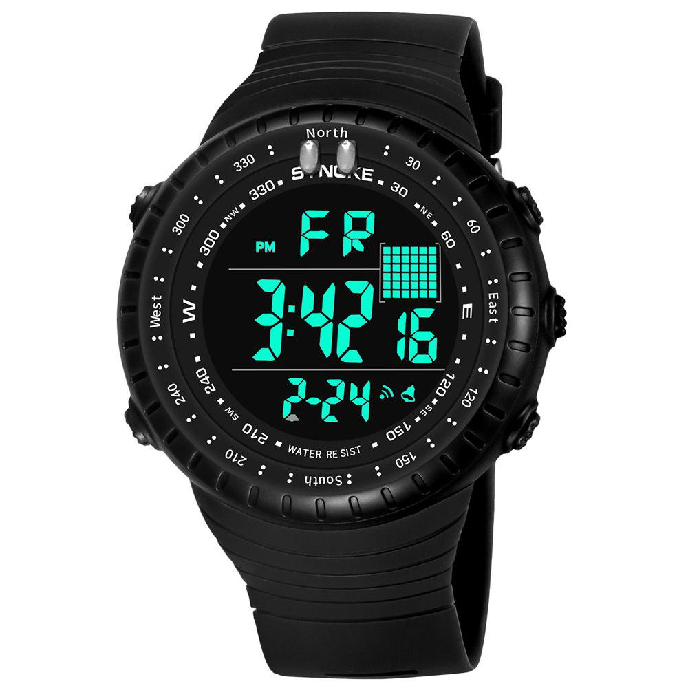 SYNOKE 9648 Waterproof Multifunctional Outdoor Large Screen Male Electronic Watch - BLACK
