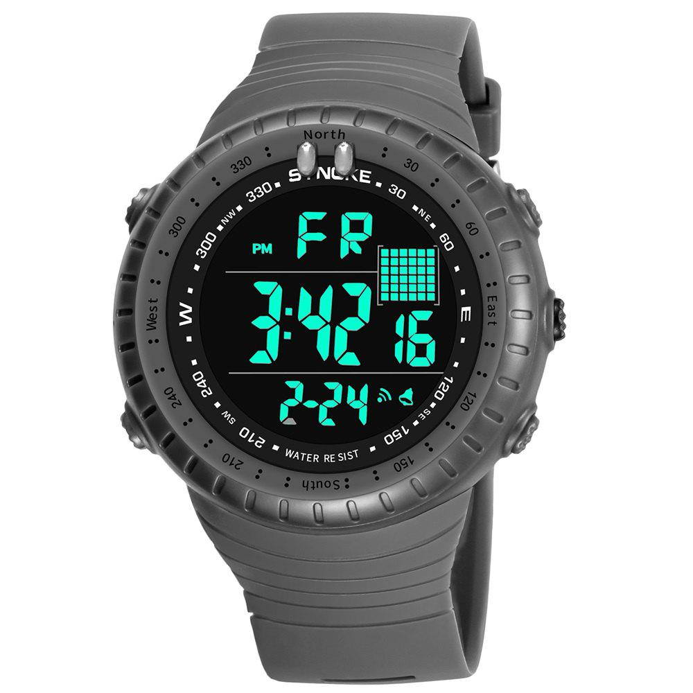 SYNOKE 9648 Waterproof Multifunctional Outdoor Large Screen Male Electronic Watch - GRAY