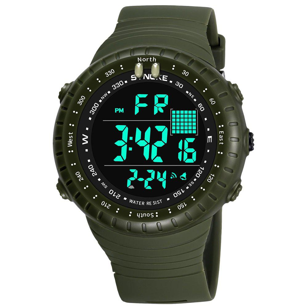 SYNOKE 9648 Waterproof Multifunctional Outdoor Large Screen Male Electronic Watch - ARMYGREEN