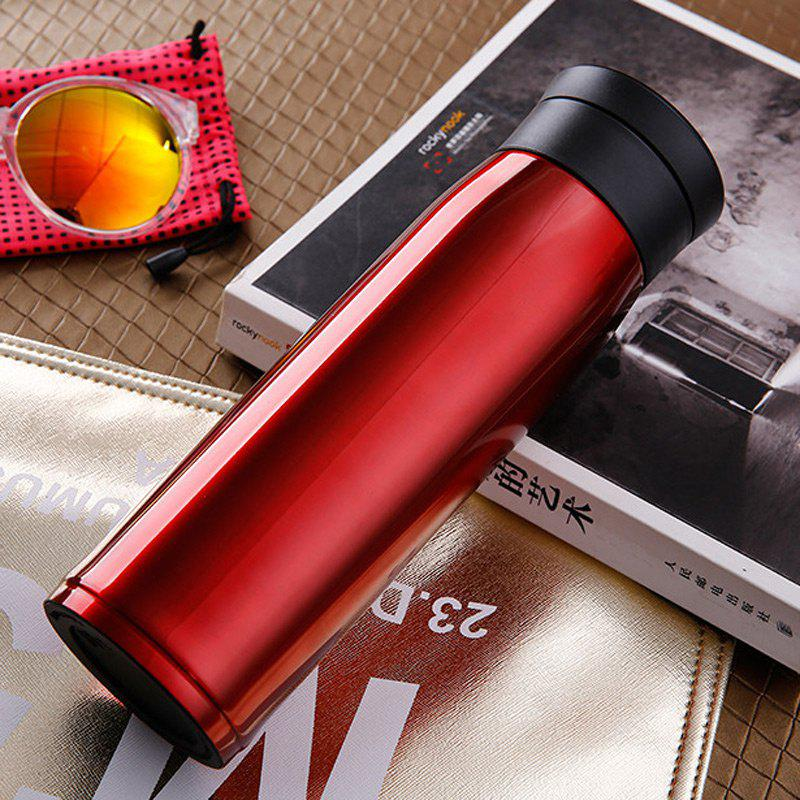 Portable 304 Stainless Steel Punk Vacuum Cup - WINE RED 500ML