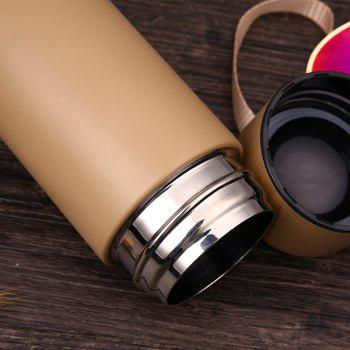 Thin Style Portable  Vacuum Cup with Mini Tea Cup - GOLDEN 400ML