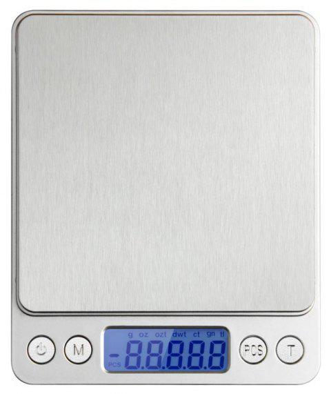 3000g x 0.1g Portable Mini Electronic Digital Scales Pocket Case Postal Kitchen Jewelry Weight Balance with Tray - SILVER
