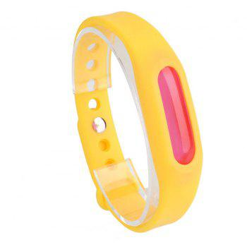 Summer Mosquito Repellent Silicone Wristband - YELLOW