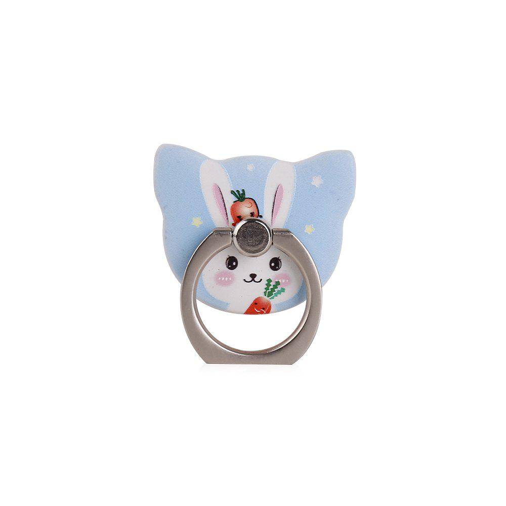 Cute Cartoon Rabbit 360 Degree Finger Ring Mobile Phone Smartphone Stand Holder Smart Phone - BLUE