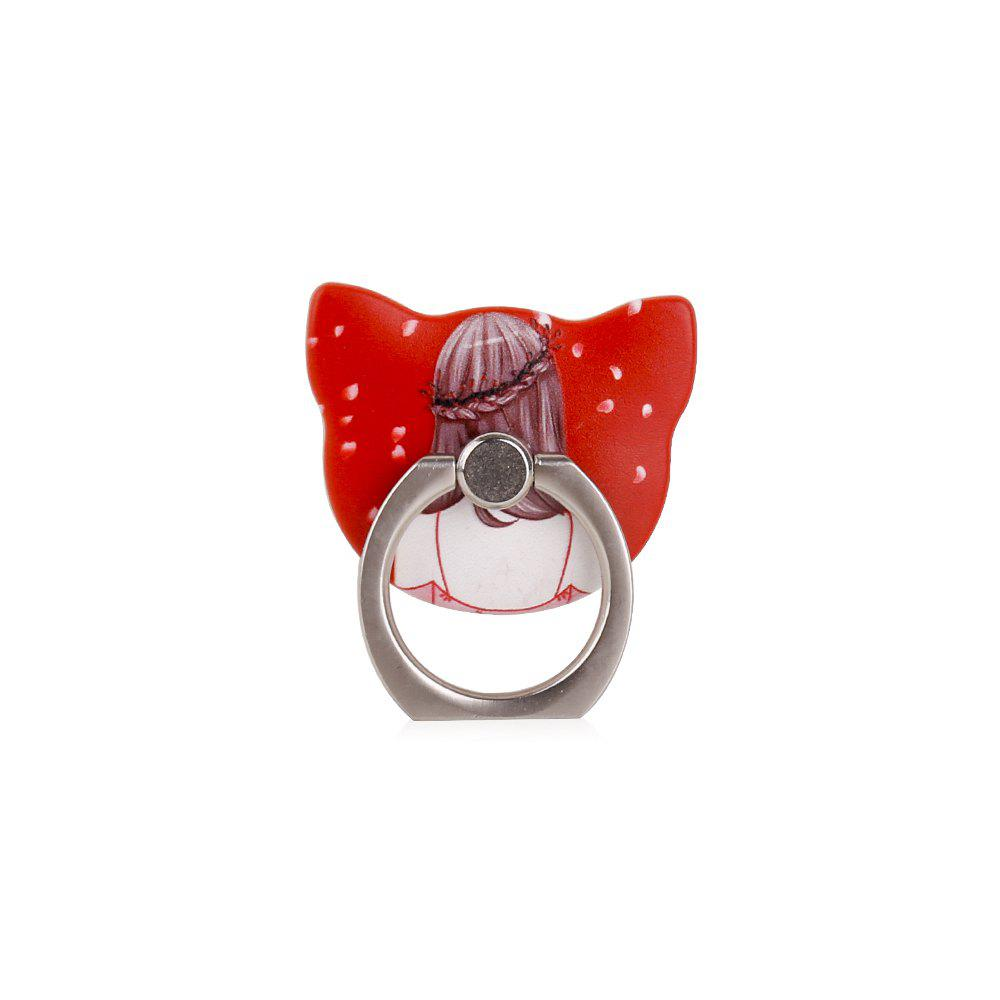 Sexy Girl 360 Degree Finger Ring Mobile Phone Smartphone Stand Holder Red Skirt Smart Phone - RED