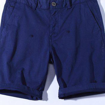 2018 Summer New Men Cotton Shorts Pantalons décontractés - Azuré 30