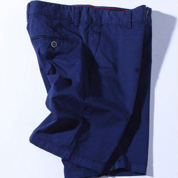 2018 Summer New Men Cotton Shorts Pantalons décontractés - Azuré 38
