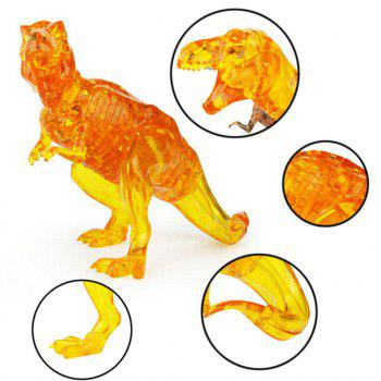 Creative 3D Dinosaur Crystal Puzzle Animal Assembled Model DIY Educational Toys - YELLOW