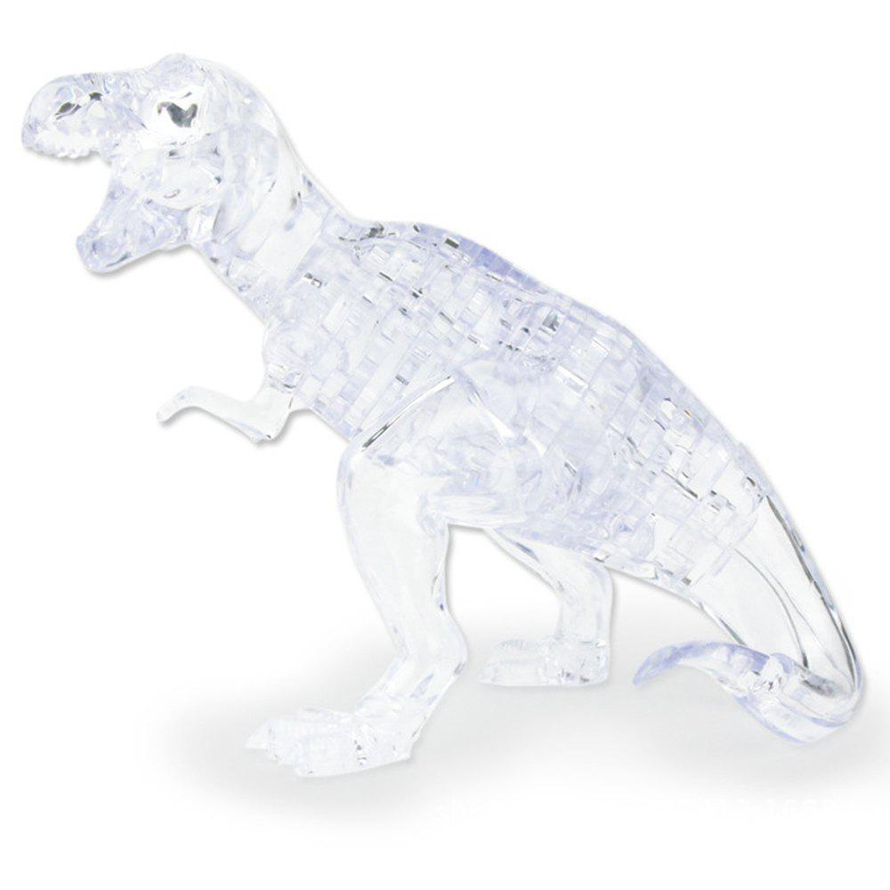 Creative 3D Dinosaur Crystal Puzzle Animal Assembled Model DIY Educational Toys - TRANSPARENT