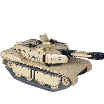 Military Mechanical Assembling Remote Control Electric Tanks Can Rotate The Launch - COLORMIX
