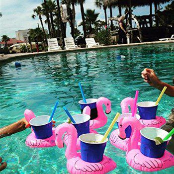 Inflatable Drink Holder Float Coaster Floating Flamingo Coasters 12PCS - ROSE MADDER