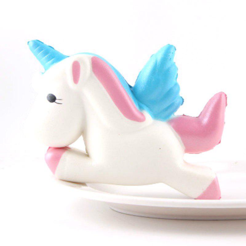 Jumbo Squishy Slow Rising Kawaii Cute Cartoon Unicorn Horse Toys - WHITE