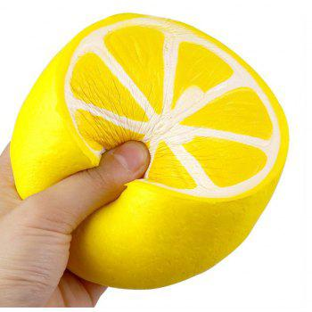 Jumbo Squishy Lemon and Watermelon Stress Relief Soft Toy for Kids and Adult 2PCS - YELLOW/RED