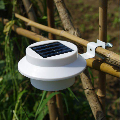 BRELONG 3LED Solar Fence Lamp Eaves Landscape Courtyard Induction Wall Lamp - WHITE LIGHT