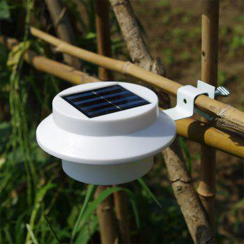 BRELONG 3LED Solar Fence Lamp Eaves Landscape Courtyard Induction Wall Lamp - WARM WHITE
