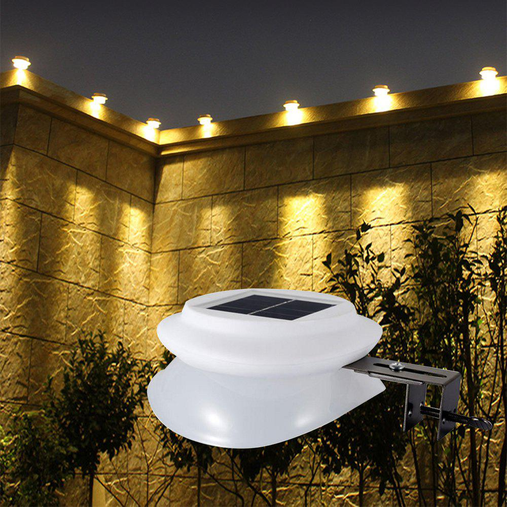 BRELONG 9LED Solar Wall Light Outdoor Waterproof Garden Lamp - WARM WHITE