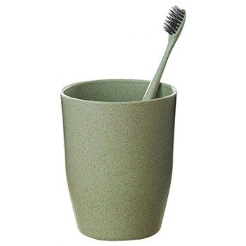 Eco-friendly Bathroom Tool Wheat Straw Nordic Style Circular Mouthwash Cup 1PCS - GREEN