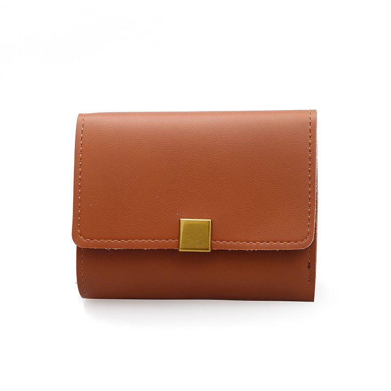 New Fashion Short Lady's Purse - BROWN