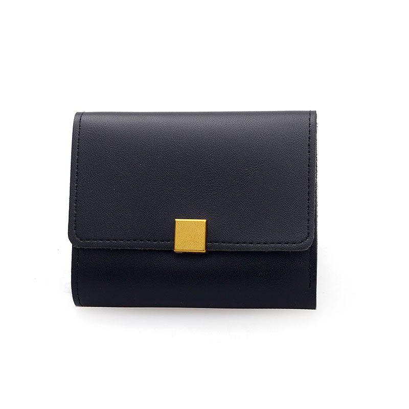 New Fashion Short Lady's Purse - BLACK